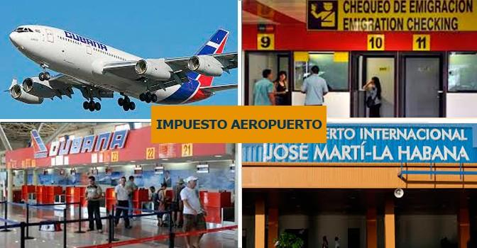 PAGO DE IMPUESTO POR SERVICIOS DE AEROPUERTO EN CUBA