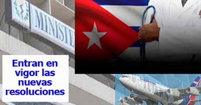 VIAJAR AL EXTRANJERO Y REGRESAR A CUBA. LIBERACION DE MEDICOS