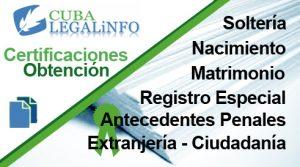 certificaciones registro civil cuba