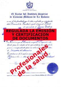 Regulan documentos docentes y laborales para el exterior a profesionales de la salud (Publicado por CubaLegalInfo)