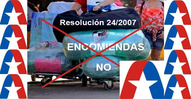 """Las encomiendas, las """"mulas"""" y la Aduana en Cuba"""