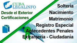 certificaciones Registro Civil y Antecedentes Penales